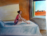 "Copia da ""morning sun"" di Hopper"